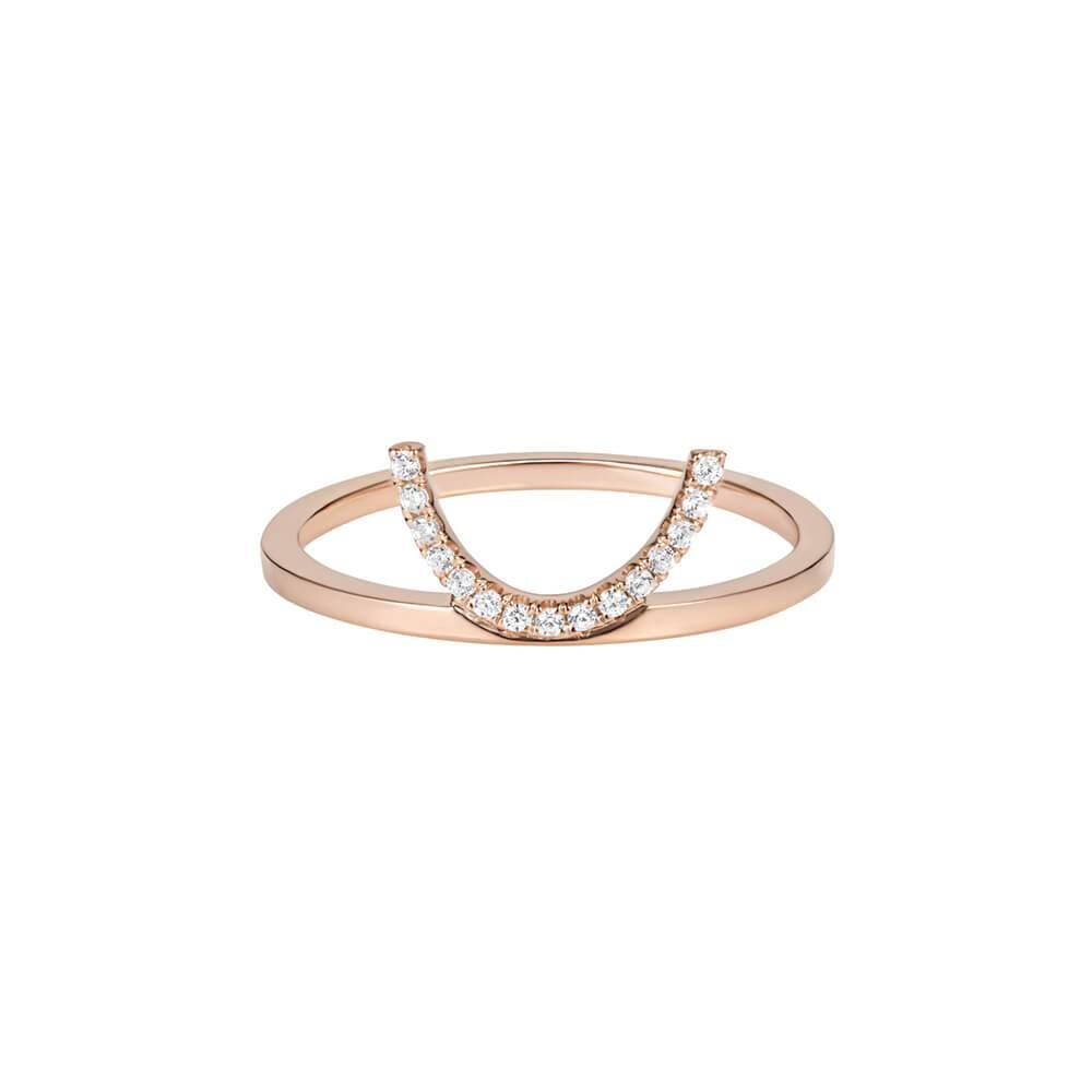 ELEMENTS Diamond Crescent Ring
