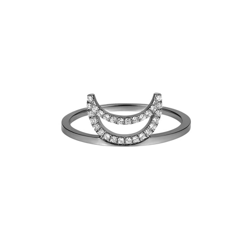 ELEMENTS Midnight Crescent Ring