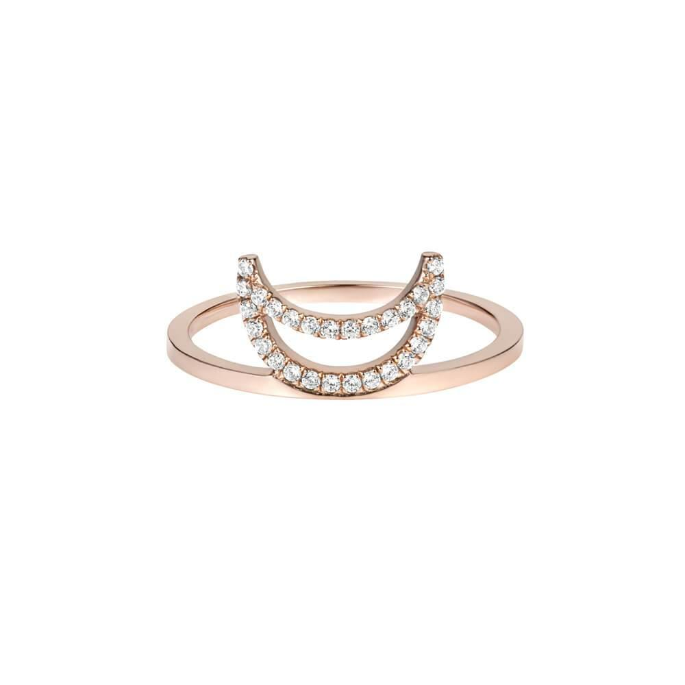 ELEMENTS Rose Crescent Ring