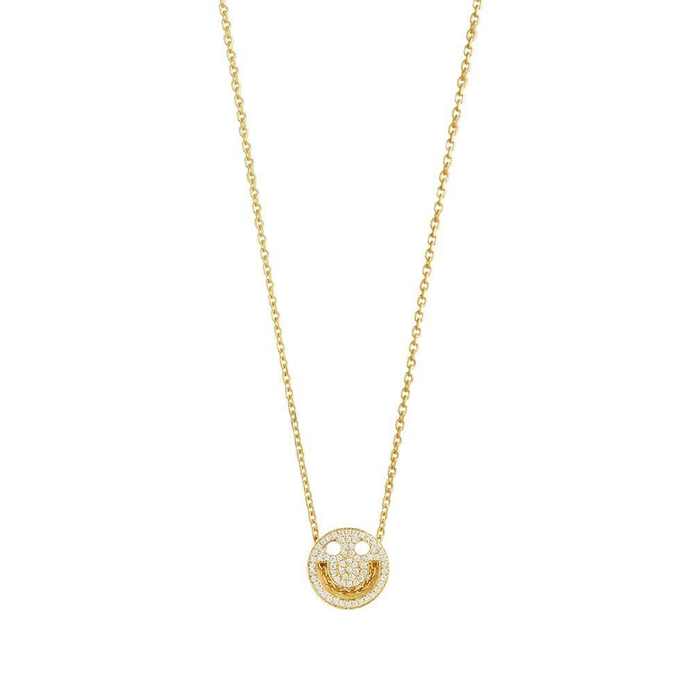 FRIENDS Happy Diamond Chain Necklace - RUIFIER