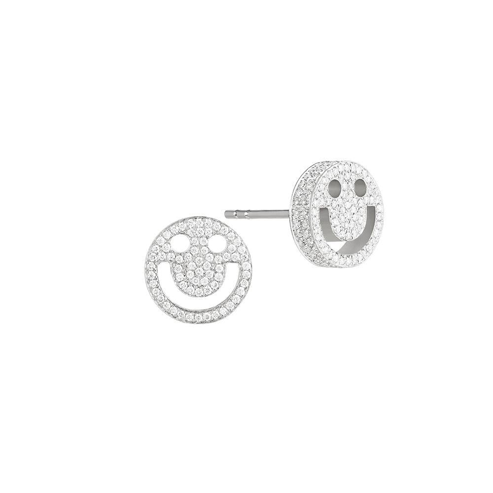 FRIENDS Happy Diamond White Gold Studs - RUIFIER