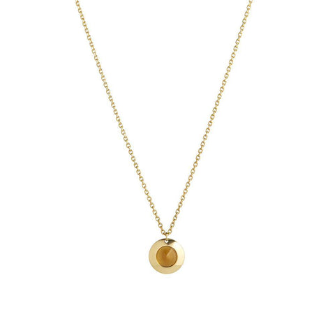 Gems of Cosmo Citrine Necklace - RUIFIER
