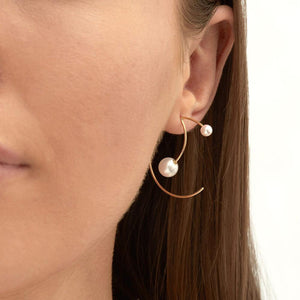 Cosmo Galactic Hoop Earrings