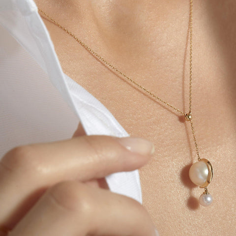 Cosmo Saturn Drop Necklace