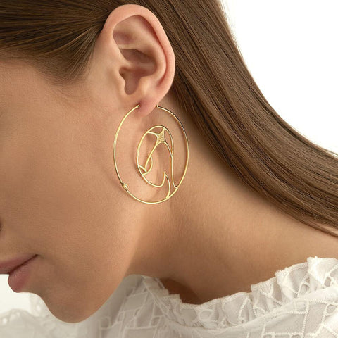 Cosmo Space Friend Hoop Earrings