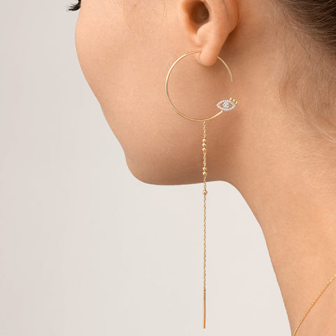 Modern Words Fine Iris Drop Earring