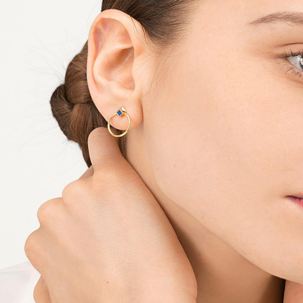 Orbit Infinity Cube Earrings