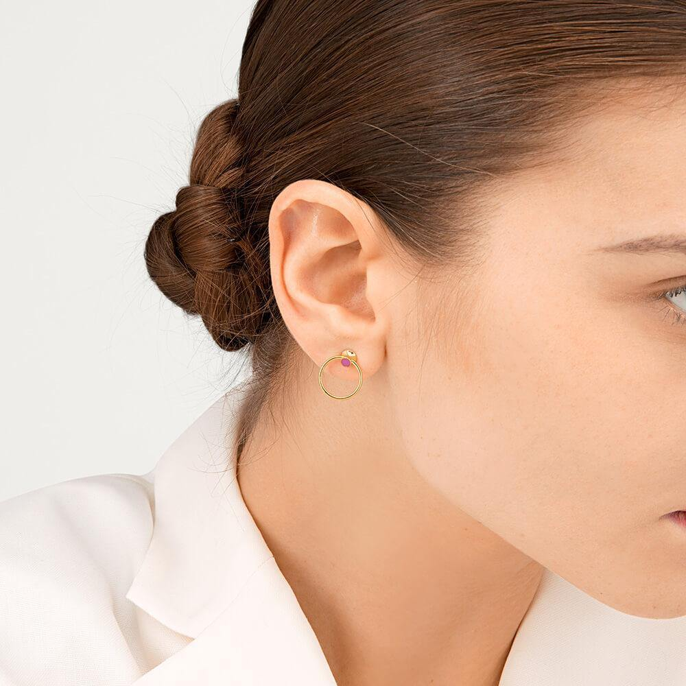 Orbit Infinity Dot Earrings