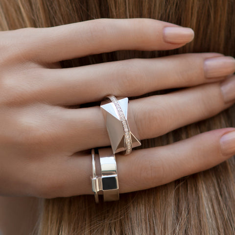 ICON SHARD RING YELLOW GOLD