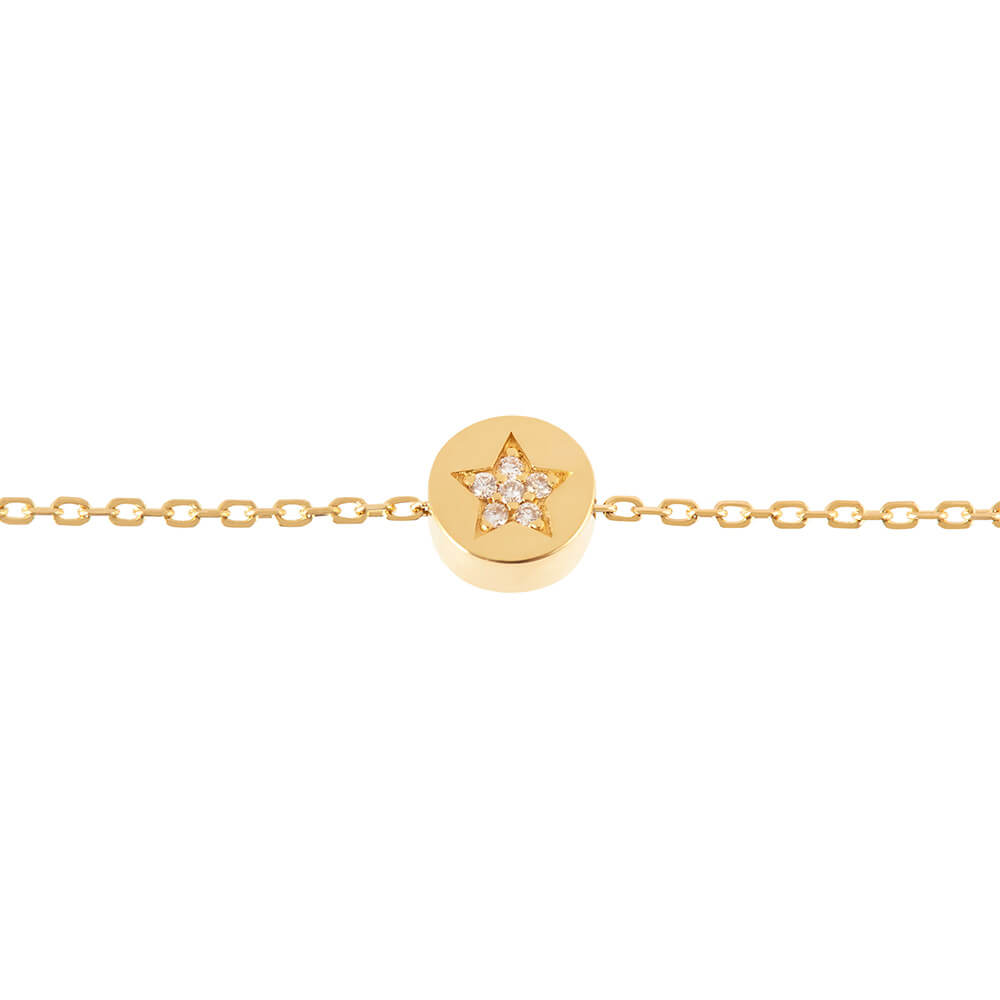 Modern Words Fine Star Bracelet