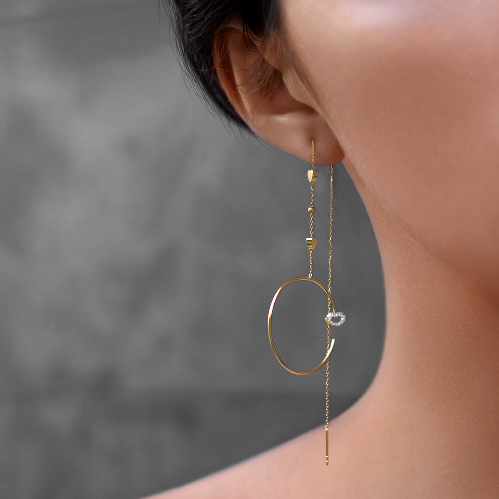 Modern Words Moonlight Earrings Set