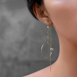 Modern Words Fine Moonlight Earrings Set