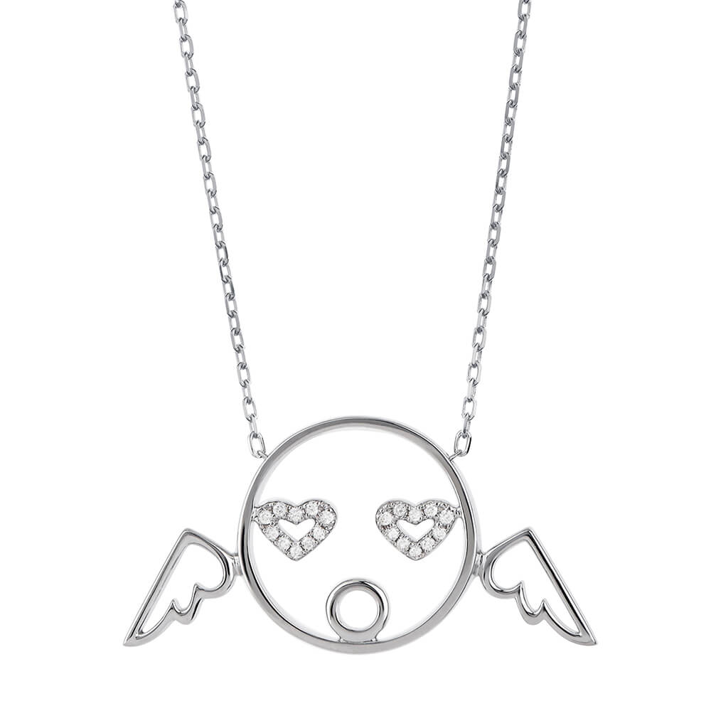 MOYEN Cupid Pendant White Gold