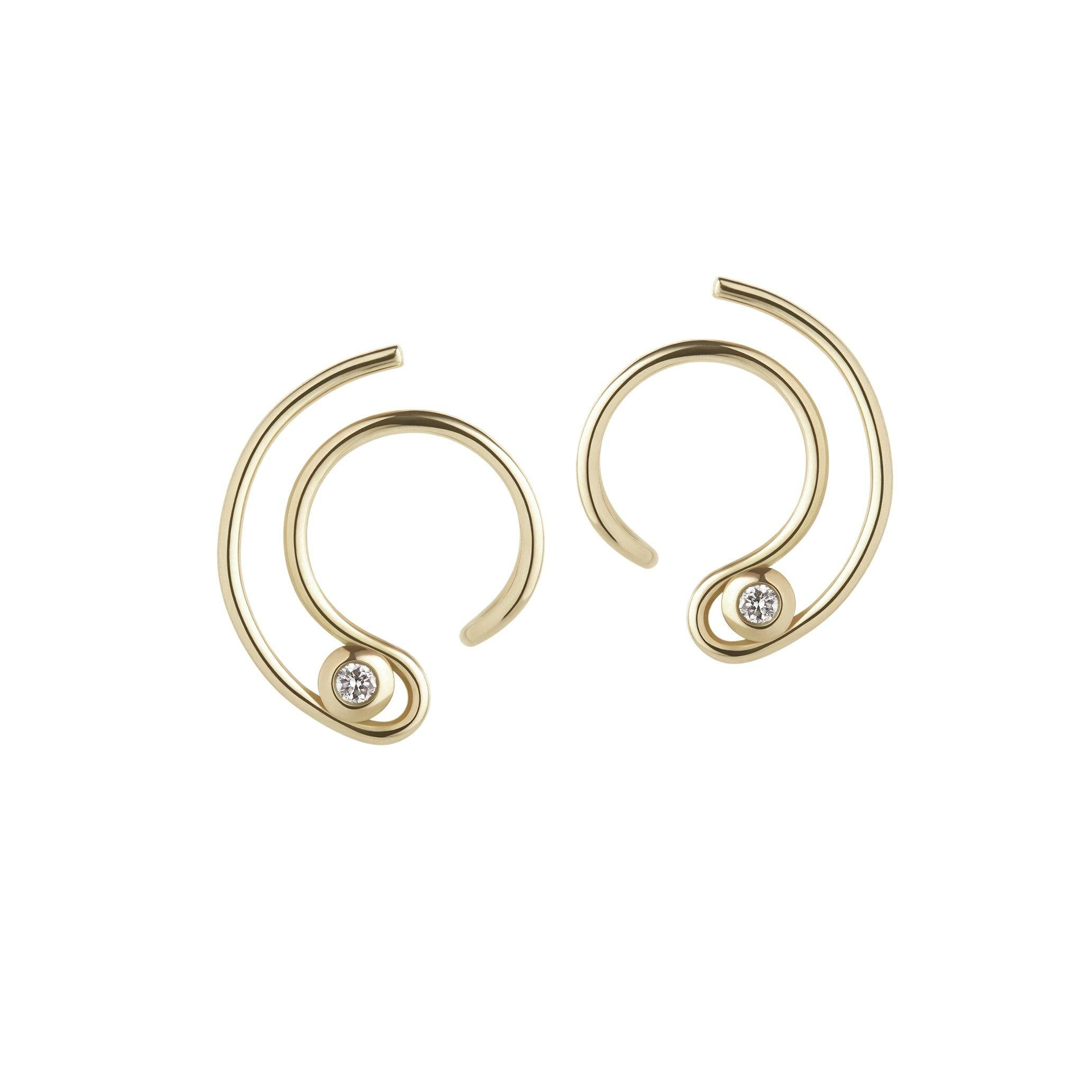 Orbit Fine Diamond Solar Earrings