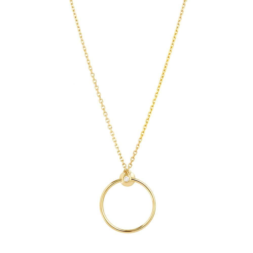 Orbit Fine Infinity Necklace
