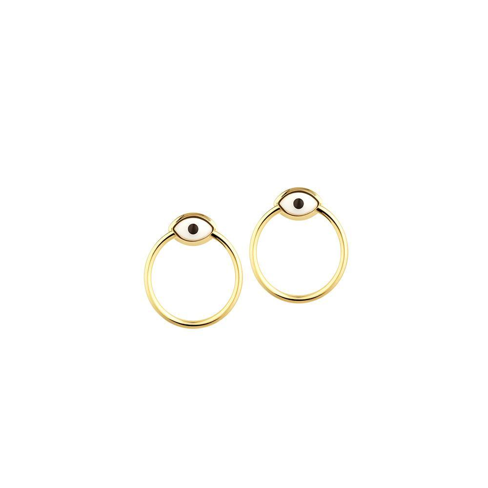 Orbit Infinity Iris Earrings