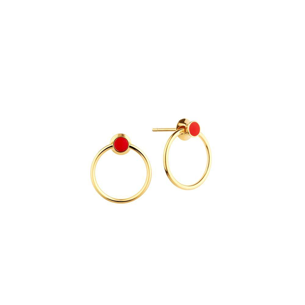 Orbit Infinity Red Dot Earrings - RUIFIER