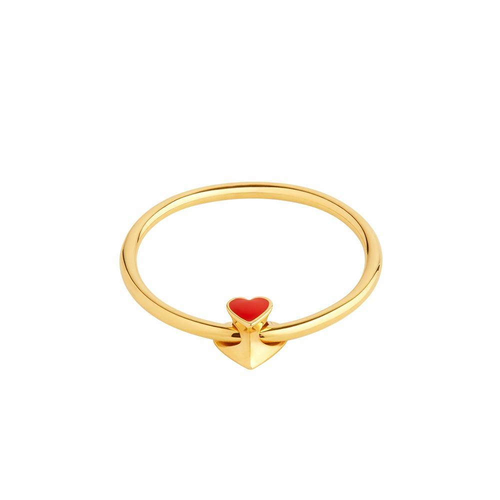 Ruifier Orbit Infinity Heart 18ct Yellow Gold Vermeil Ring