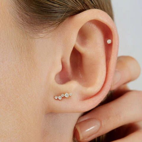 Scintilla Alpha Ray Stud Earring - RUIFIER