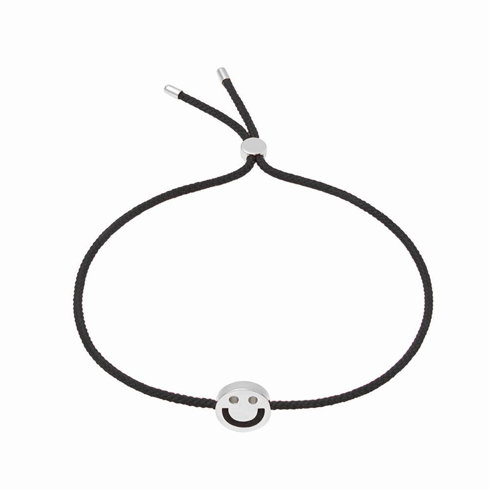 FRIENDS Happy Bracelet 18ct White Gold Black - RUIFIER