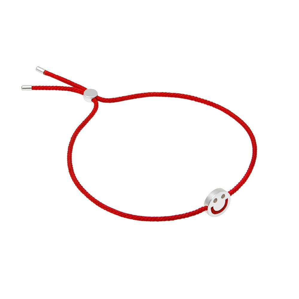 FRIENDS Happy Bracelet 18ct White Gold Red - RUIFIER