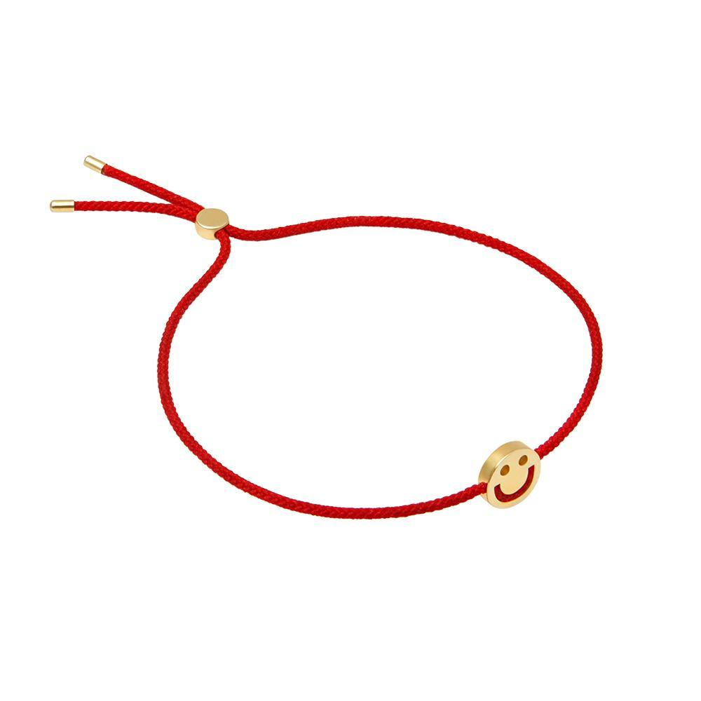 FRIENDS Happy Bracelet 18ct Yellow Gold Red - RUIFIER