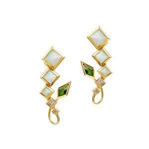 SPECTRUM Arabesque Earrings Green