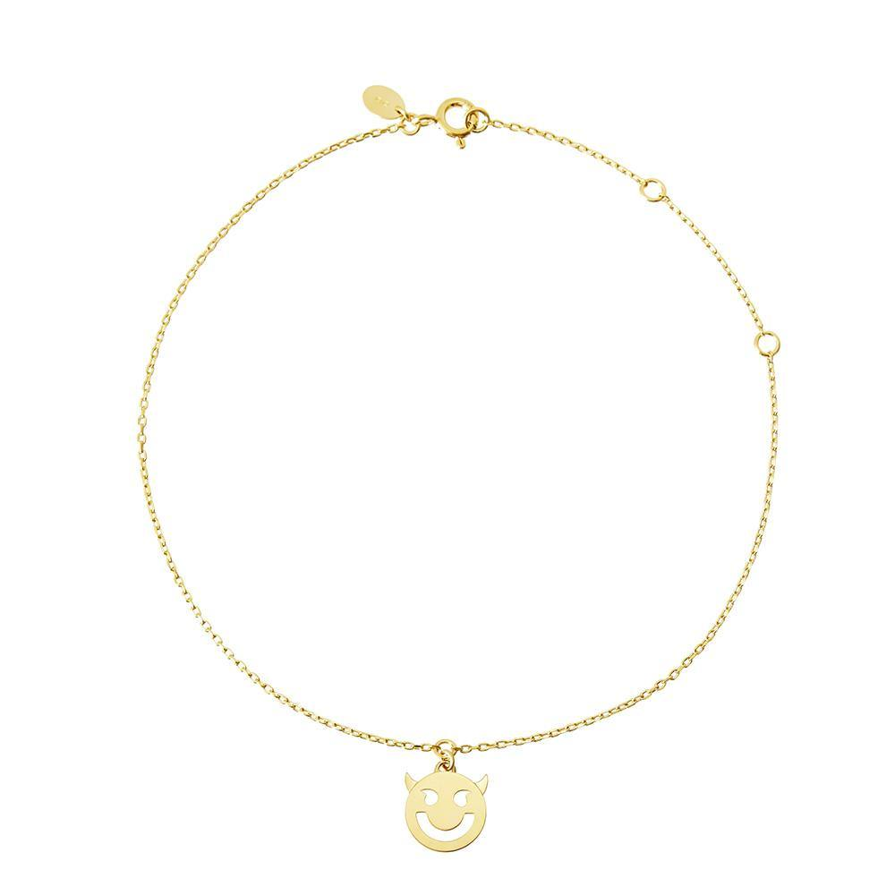 1 RUIFIER FRIENDS 18ct Yellow Gold Super Wicked Anklet