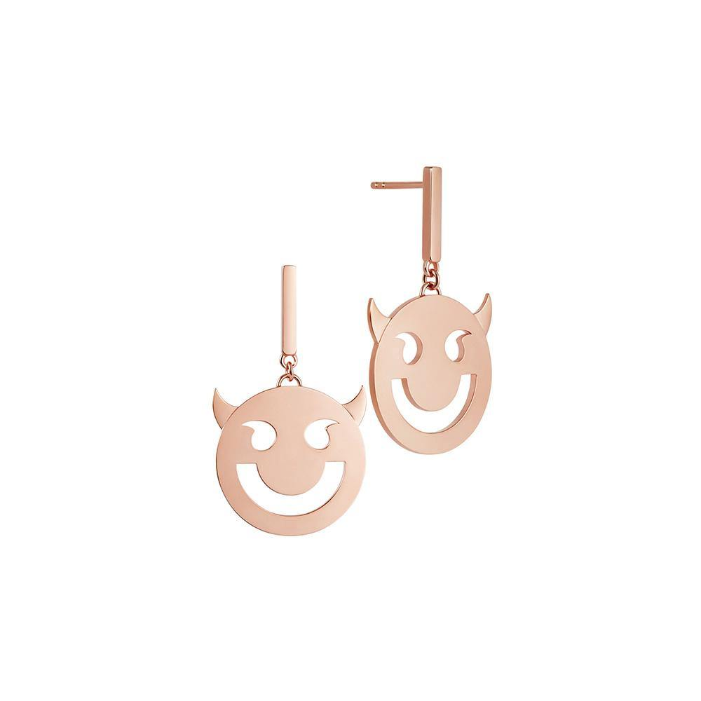 RUIFIER FRIENDS 18ct Rose Gold Super Wicked Disc Earrings