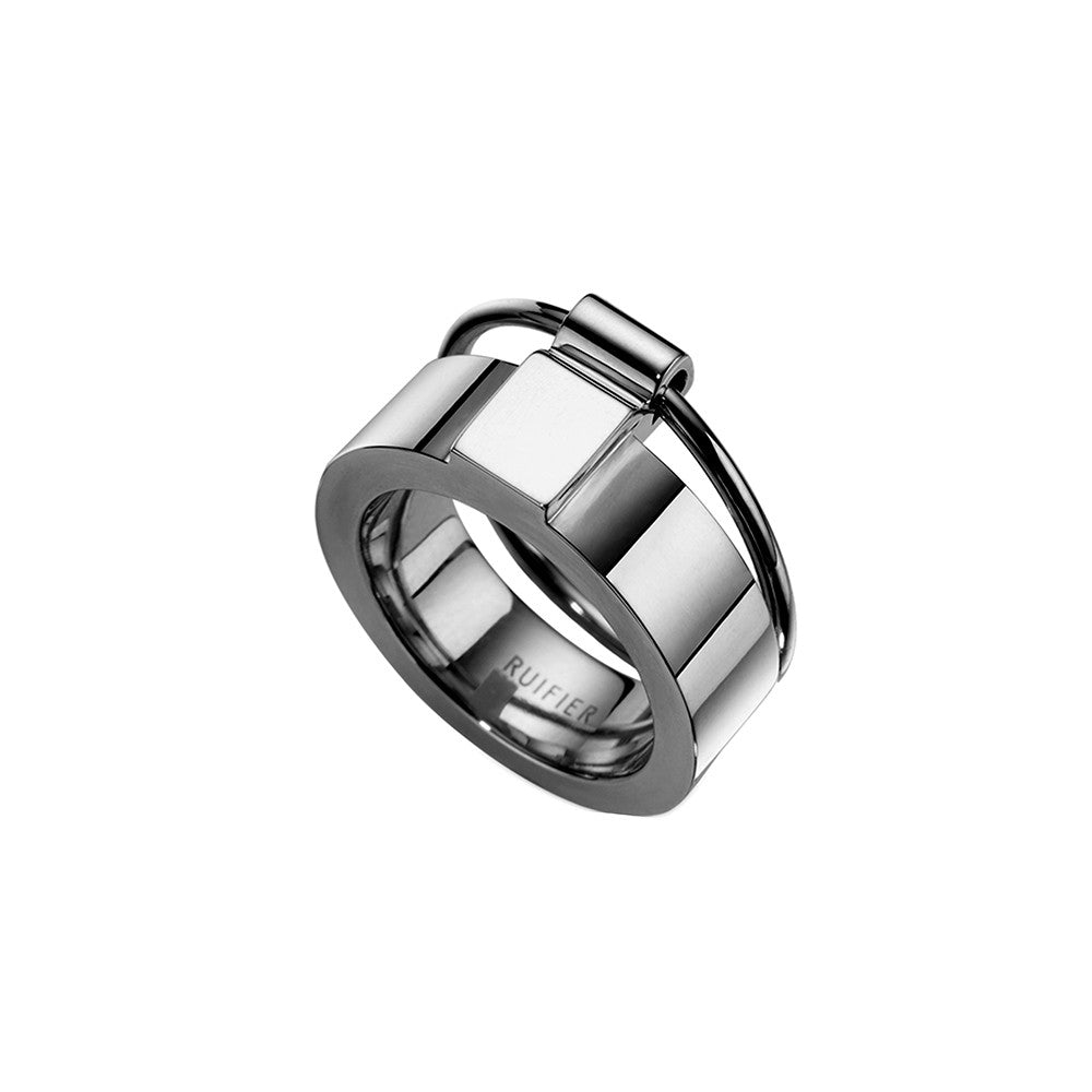 The Icon Ring Black Rhodium