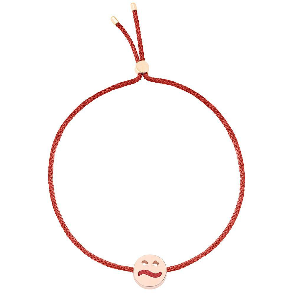 Ruifier Friends Ditzy Cord Bracelet Burnt Umber Rose Gold