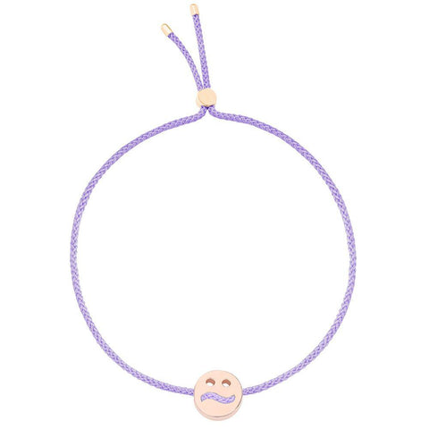 Ruifier Friends Ditzy Cord Bracelet Lilac Rose Gold