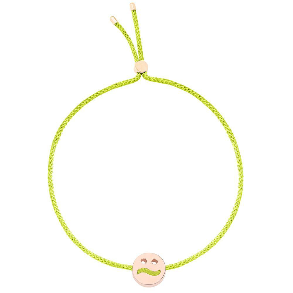 Ruifier Friends Ditzy Cord Bracelet Lime Green Rose Gold