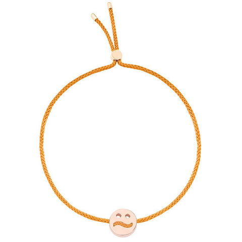 Ruifier Friends Ditzy Cord Bracelet Orange Rose Gold