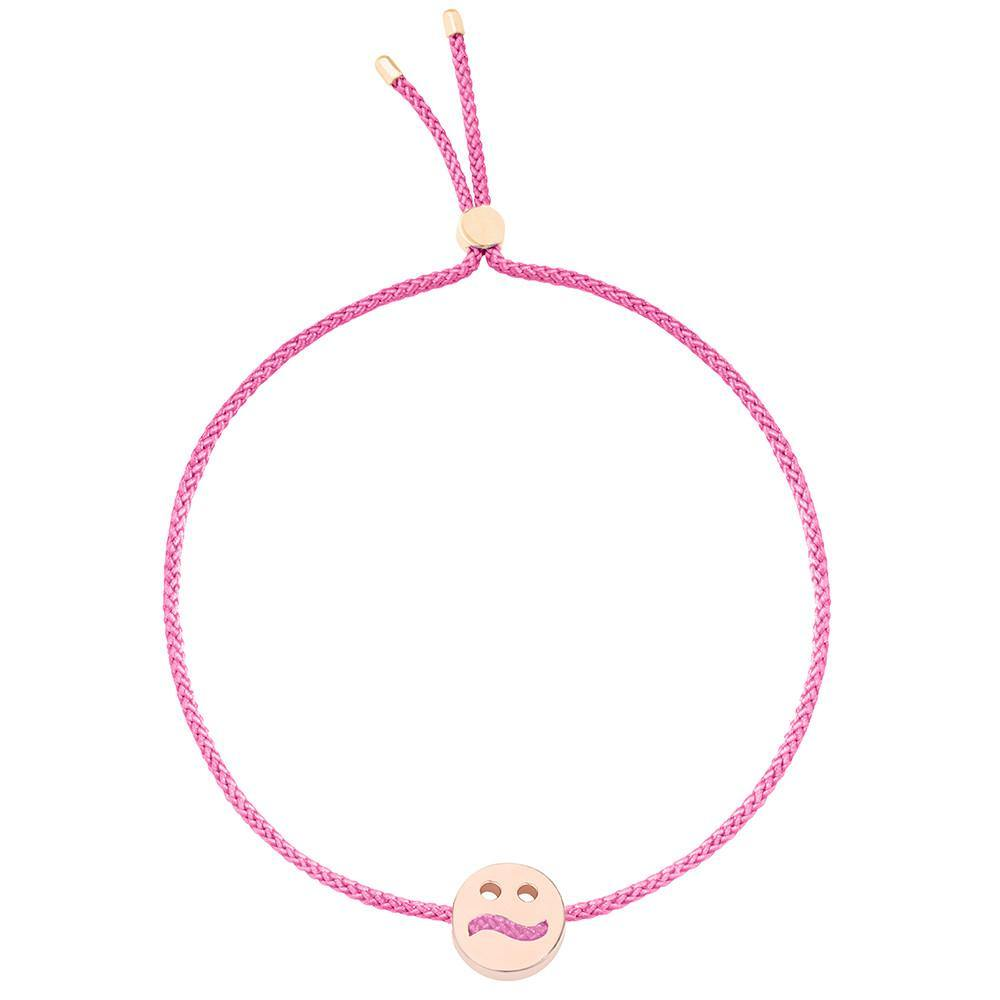 Ruifier Friends Ditzy Cord Bracelet Pink Rose Gold