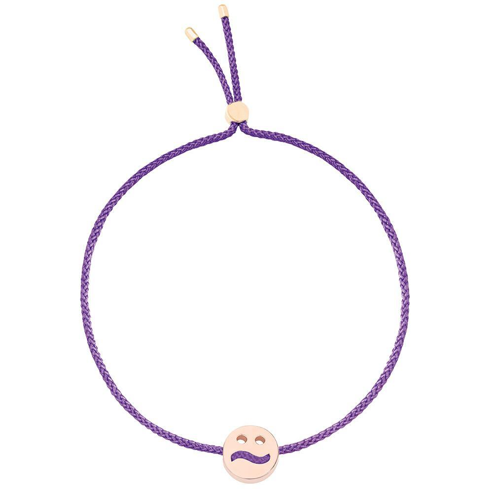 Ruifier Friends Ditzy Cord Bracelet Purple Rose Gold