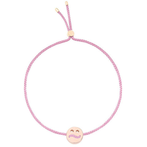 Ruifier Friends Ditzy Cord Bracelet Rose Pink Rose Gold