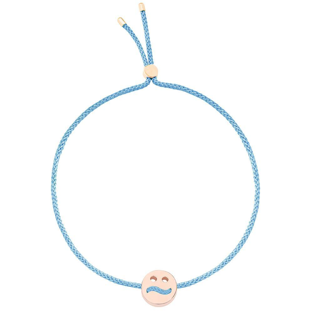 Ruifier Friends Ditzy Cord Bracelet Sky Blue Rose Gold