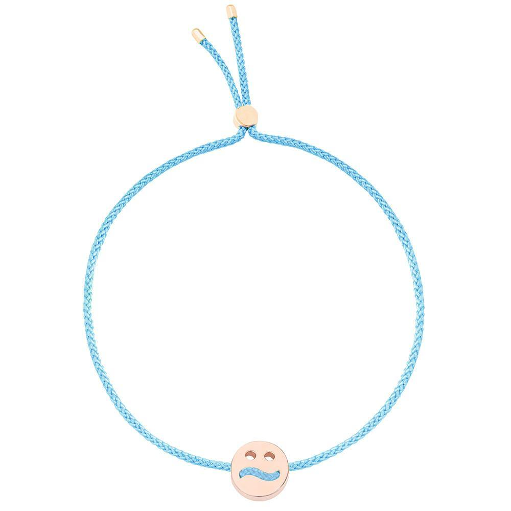 Ruifier Friends Ditzy Cord Bracelet Turquoise Rose Gold