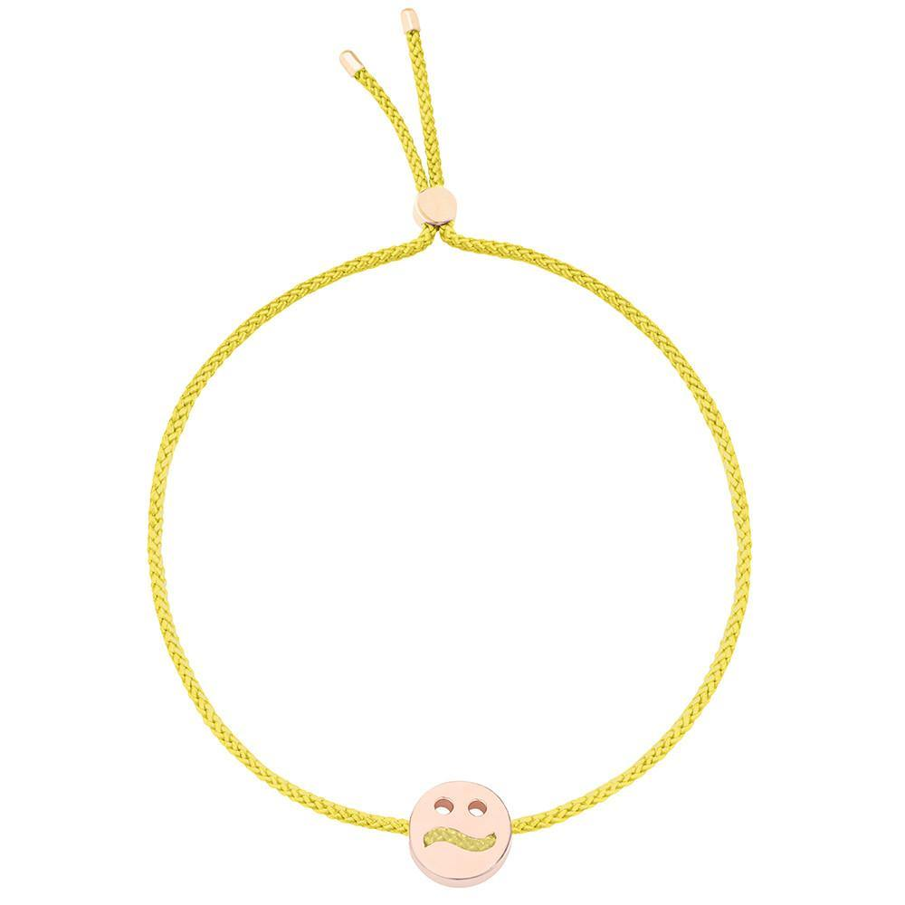 Ruifier Friends Ditzy Cord Bracelet Yellow Rose Gold
