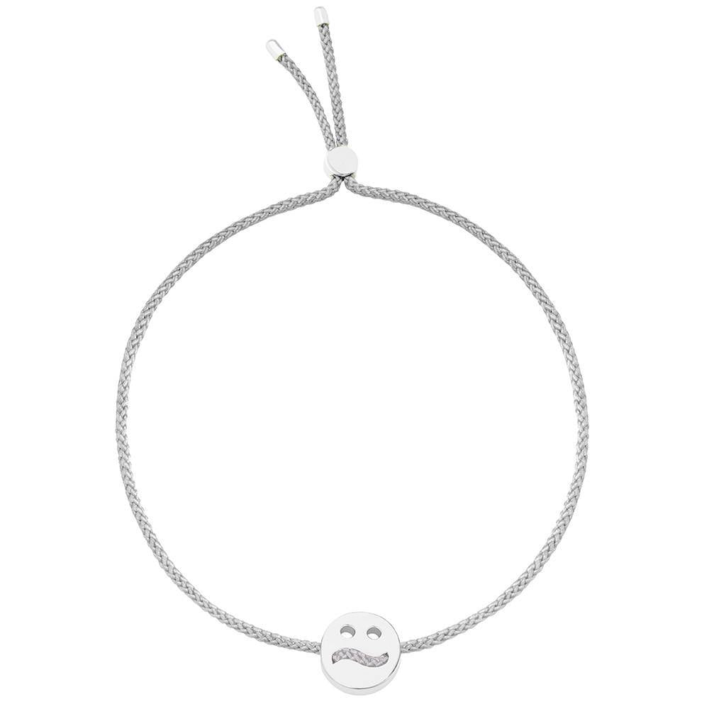 Ruifier Friends Ditzy Cord Bracelet Light Grey Sterling Silver