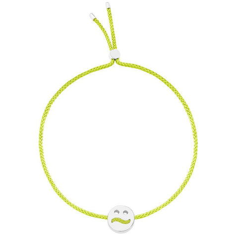 Ruifier Friends Ditzy Cord Bracelet Lime Green Sterling Silver