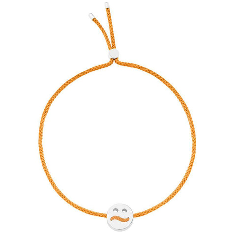 Ruifier Friends Ditzy Cord Bracelet Orange Sterling Silver