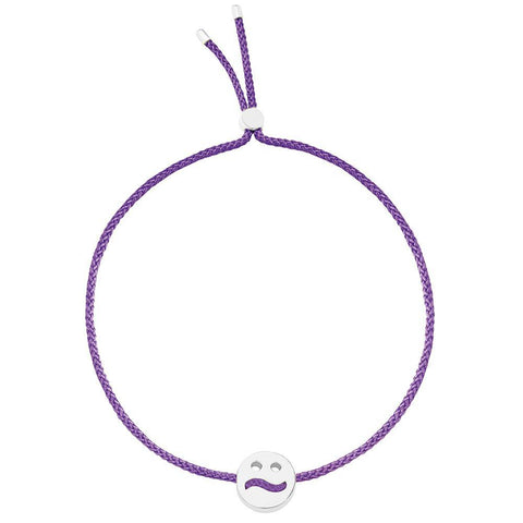 Ruifier Friends Ditzy Cord Bracelet Purple Sterling Silver