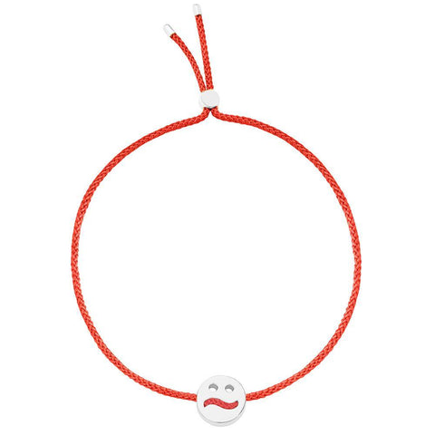 Ruifier Friends Ditzy Cord Bracelet Red Sterling Silver