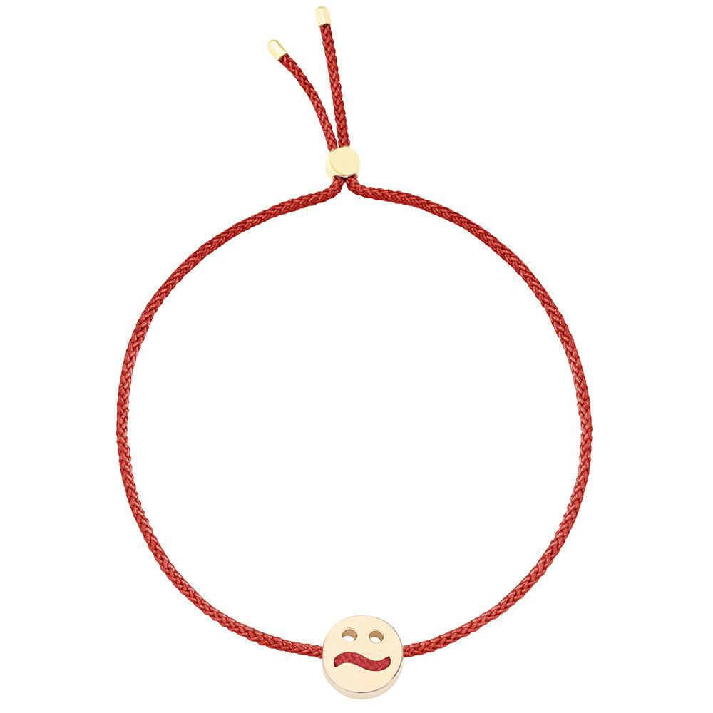 Ruifier Friends Ditzy Cord Bracelet Burnt Umber Yellow Gold