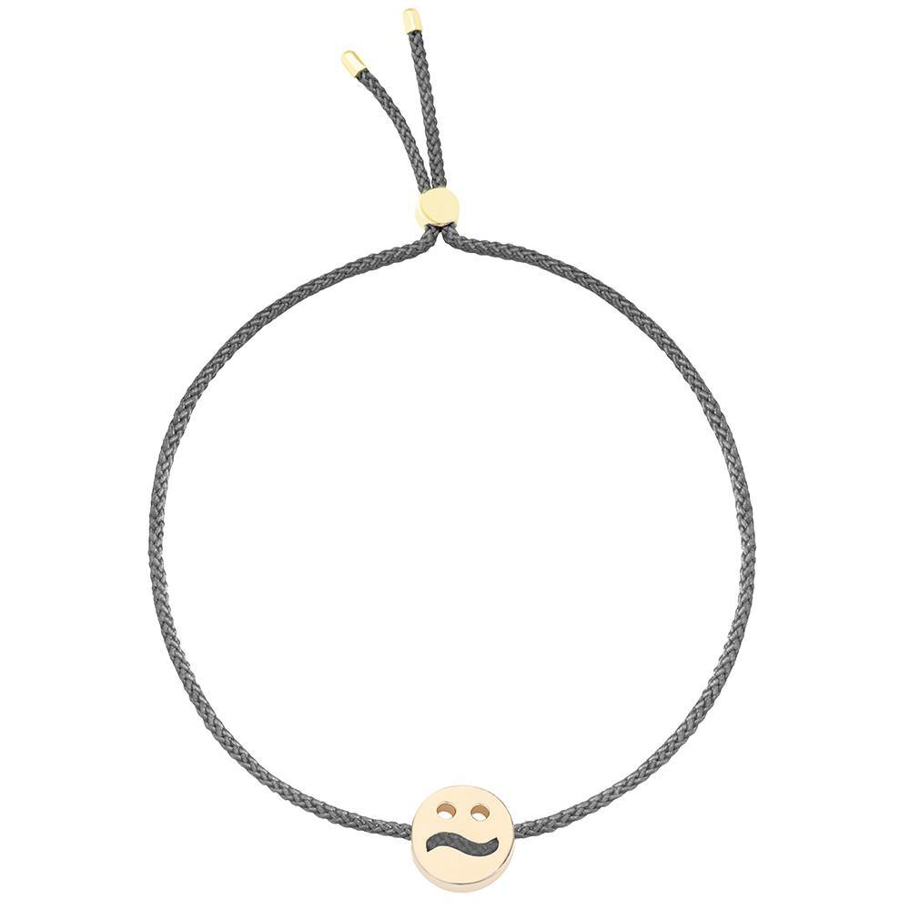 Ruifier Friends Ditzy Cord Bracelet Dark Grey Yellow Gold