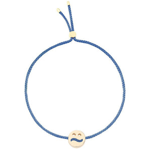 Ruifier Friends Ditzy Cord Bracelet Dusky Blue Yellow Gold