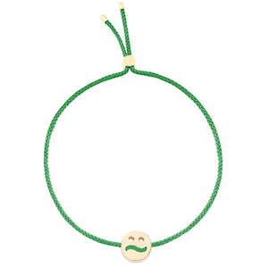 Ruifier Friends Ditzy Cord Bracelet Green Yellow Gold