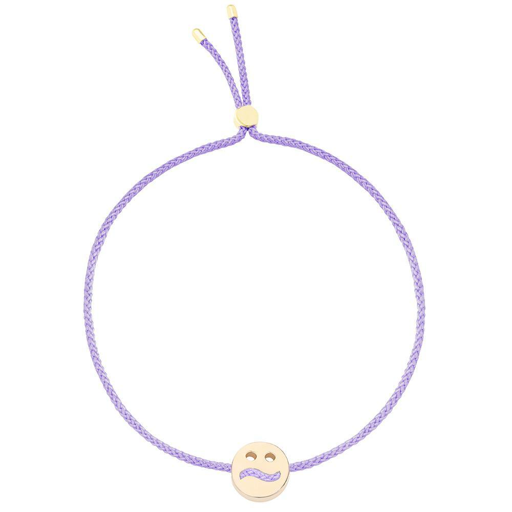 Ruifier Friends Ditzy Cord Bracelet Lilac Yellow Gold